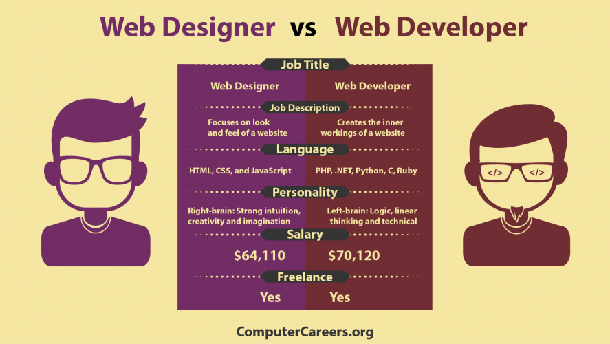 image Web Designer vs Web Developer