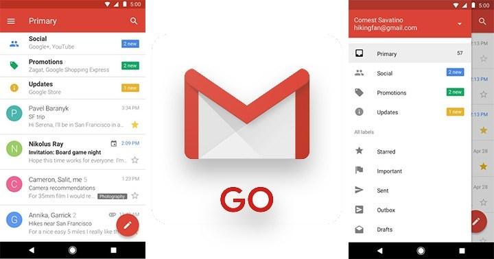 image Gmail Go, Aplikasi Ringan Terbaru dari Gmail